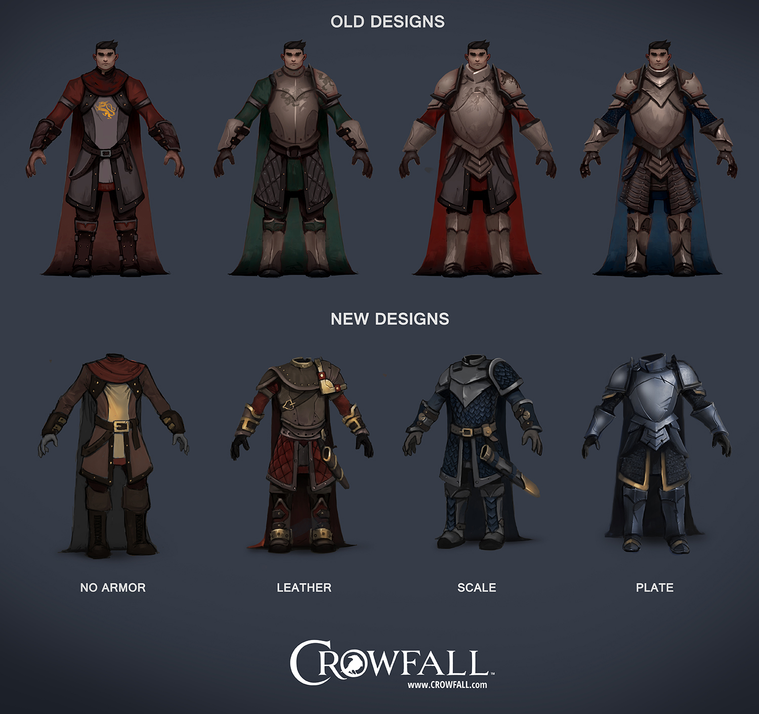 Armor concepts: Before and after